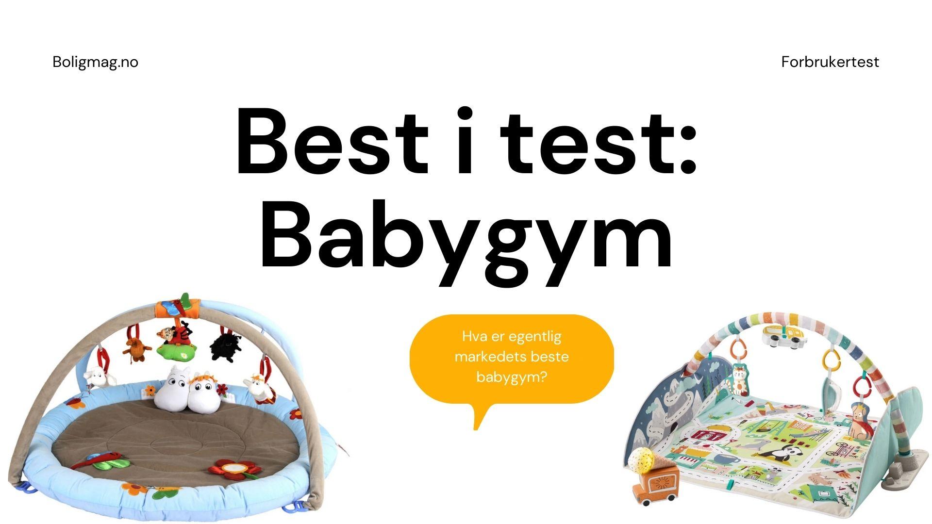 Babygym test: Topp 8 aktivitetsmatter for lekne babyer