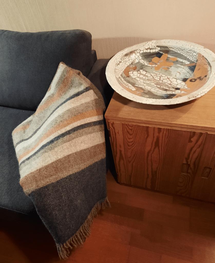 pledd laget i ull